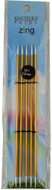 "Knitter's Pride Zing 5-Pack 6"" Double Pointed Aluminium Knitting Needles (Size US 1 - 2.25 mm)"