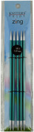 """Knitter's Pride Zing 5-Pack 6"""" Double Pointed Aluminium Knitting Needles (Size US 3 - 3.25 mm)"""