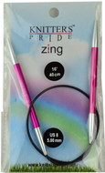 "Knitter's Pride Zing 16"" Aluminium Fixed Circular Knitting Needle (Size US 8 - 5 mm)"