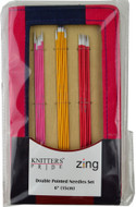 "Knitter's Pride Zing 30-Pack 6"" Double Pointed Knitting Needles Set"
