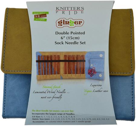 "Knitter's Pride Ginger 60-Pack 6"" Double Pointed Knitting Needles Set"