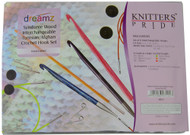 "Knitter's Pride Symfonie Dreamz 8-Pack 24"", 32"" & 40"" Interchangeable Tunisian / Afghan Crochet Hooks Set"