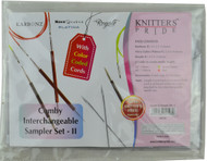 """Knitter's Pride Comby 24"""" & 40"""" Interchangeable Circular Knitting Needles Sampler Set - II (3 Pairs)"""