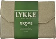 "LYKKE Grove 5"" Interchangeable Circular Bamboo Knitting Needles Set (12 Pairs) - Beige"