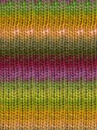 Noro #95 Green, Orange, Pink, Kureyon Yarn (4 - Medium)