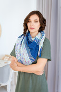 Blue Impression Shawl - Downloadable Pattern