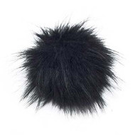 Estelle Black Snap On Pompom