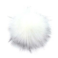 Estelle White/Black Snap On Pompom