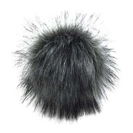 Estelle Charcoal Snap On Pompom