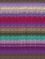 Noro #349 Purple, Red, Teal, Brown Kureyon Yarn (4 - Medium)