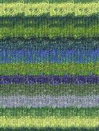 Noro #354 Yellow, Green, Blue Silk Garden Sock Yarn (1 - Super Fine)