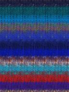 Noro #369 Blue, Red, Green Kureyon Yarn (4 - Medium)