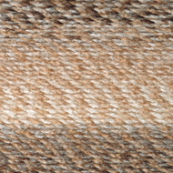 Lion Brand Caramel Tweed Stripes Yarn (5 - Bulky)