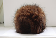 Bernat Brown Muskrat Faux Fur Pompom