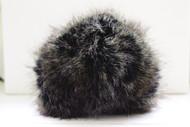 Bernat Black Mink Faux Fur Pompom