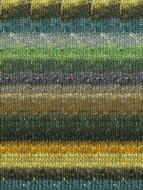 Noro #360 Black, Olive, Gold Silk Garden Sock Yarn (1 - Super Fine)