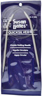 "Susan Bates Quicksilver 29"" Circular Knitting Needle (Size Us 7)"