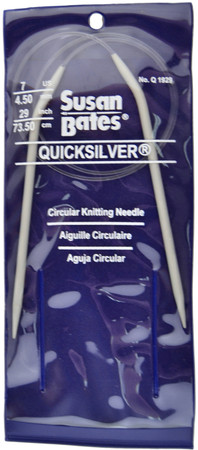 "Susan Bates Quicksilver 29"" Circular Knitting Needle (Size Us 7)"