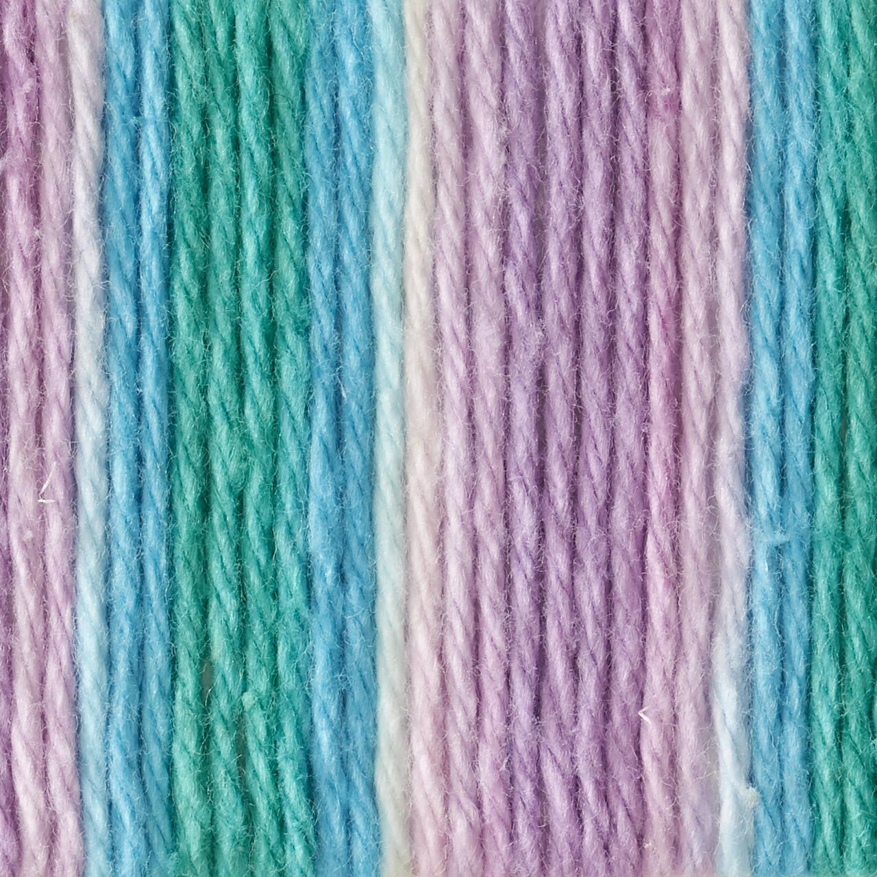 Ombres-Beach Ball Blue Bernat Handicrafter Cotton Yarn
