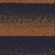 Lion Brand Ochre/Navy Scarfie Yarn (5 - Bulky)