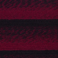 Lion Brand Cranberry/Black Scarfie Yarn (5 - Bulky)