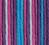 Bernat Purple Perk Ombre Handicrafter Cotton Yarn - Small Ball (4 - Medium)