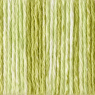 Bernat Lime Stripes Handicrafter Cotton Yarn - Small Ball (4 - Medium)
