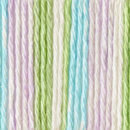 Bernat Violet Stripes Handicrafter Cotton Yarn - Small Ball (4 - Medium)