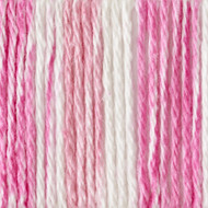 Bernat Pinky Stripes Handicrafter Cotton Yarn - Small Ball (4 - Medium)