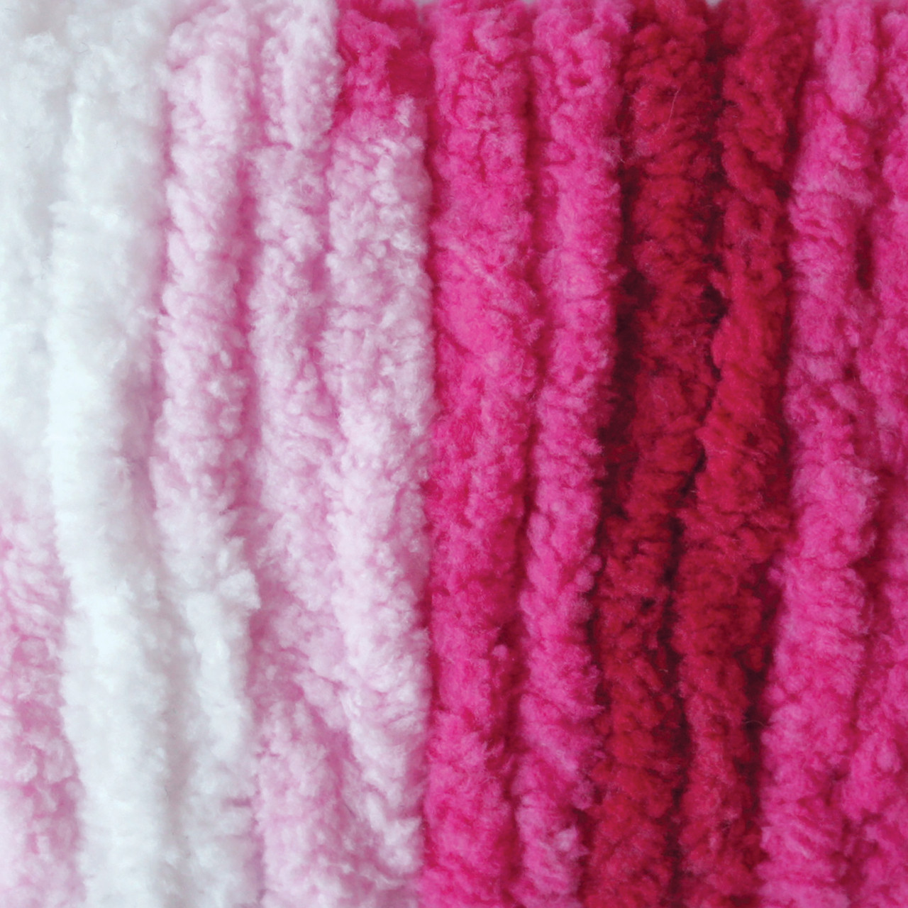 Bernat Raspberry Ribbon Varg Blanket Yarn - Small Ball (6