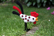 Felting Wool Rooster Needle Felting Kit (Incl. Instructions, Sliver And One Needle. Foam Block Sold Seperately)
