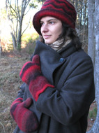 Ilga Leja Handknit Design Flame In The Forest Hat & Mittens Pattern