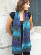 Ilga Leja Handknit Design Shades Of Midnight Scarf Pattern