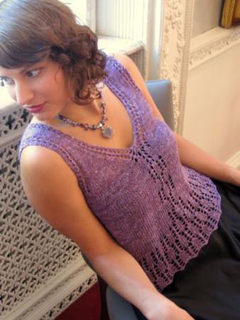 Ilga Leja Handknit Design Violetta Shirt Pattern