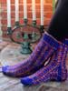 Ilga Leja Handknit Design Candles At Mid-Winter Socks Pattern