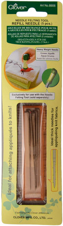 Clover 5-Pack Refill Needle For Needle Felting Tool (Heavy Weight)