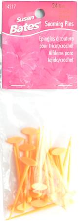 Susan Bates 24-Pack Seaming Pins (Orange)