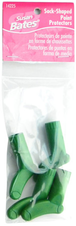 Susan Bates 4-Pack Sock-Shaped Point Protectors (Green)