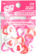 Susan Bates 18-Pack Heart Shaped Stitch Markers (Sizes US 8-13 - 5-9 mm)