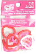 Susan Bates 15-Pack Large Heart Shaped Stitch Markers (Sizes US 13-19 - 9-15 mm)
