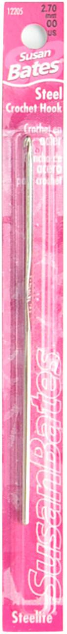 SUSAN BATES SBT12205-00  BATES STEEL CROCHET HOOK 00