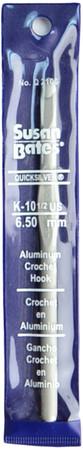 "Susan Bates Quicksilver 5.5"" Aluminum Crochet Hook (Size US K-10.5 - 6.5 mm)"