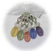Debras Garden Antique Lucite Bees (Large Rings) - Stitch & Crochet Marker