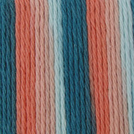 Bernat Coral Seas Ombre Handicrafter Cotton Yarn - Small Ball (4 - Medium)
