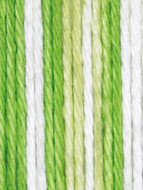 Lily Sugar 'n Cream Lime Stripes Lily Sugar 'n Cream Yarn - Small Ball (4 - Medium)