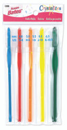 Susan Bates 5-Pack Crystalites Crochet Hooks (Sizes 4 mm - 6.5 mm)