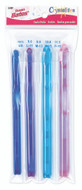Susan Bates 4-Pack Crystalites Crochet Hooks (Sizes 8 mm - 11.5 mm)