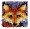 """WonderArt Mr. Fox 8"""" x 8"""" Latch Hook Kit"""