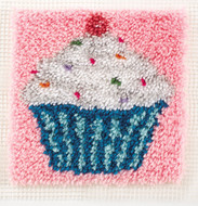 "WonderArt Cupcake 12"" x 12"" Latch Hook Kit"