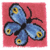 """WonderArt Butterfly 12"""" x 12"""" Latch Hook Kit"""